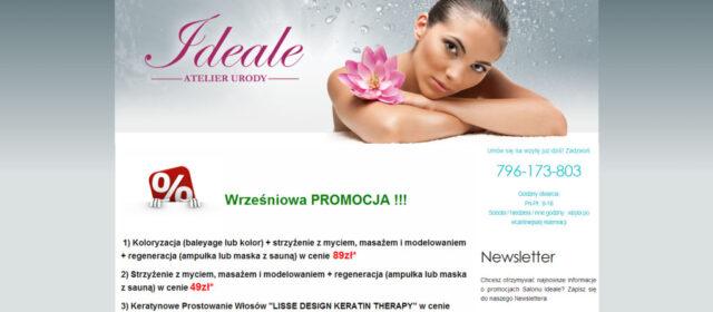 Strona internetowa Atelier Urody Ideale