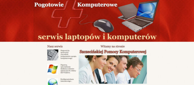 Strona internetowa Pogotowia Komputerowego