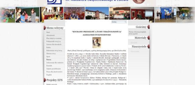Nowy layout strony Zespołu Szkół Nr 2 w Łukowie